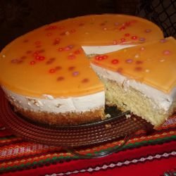 Cake with Cheesecake Cream