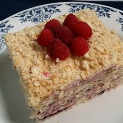 Medovik Cake with Biscuits