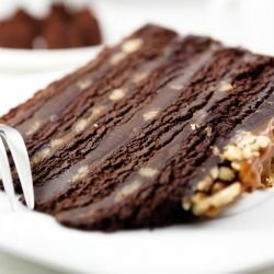 Fancy Chocolate Cake with Walnuts