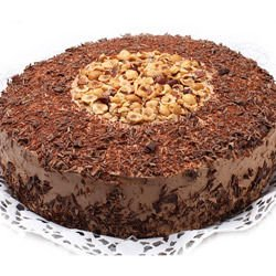 Cake with Chocolate Cream