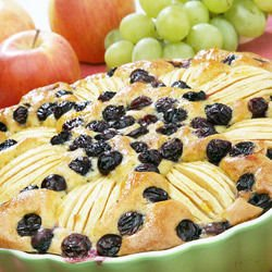Cake with Whole Apples and Grapes