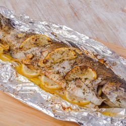 Trout with Cream in Foil