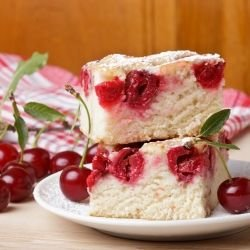 Belarusian Sour Cherry Cake
