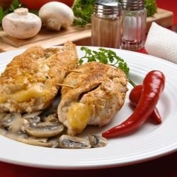 Stuffed Chicken with Mushrooms and Cheese