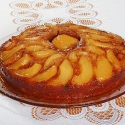 Exquisite Cake with Peaches