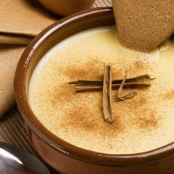 Custard with Bananas and Cinnamon