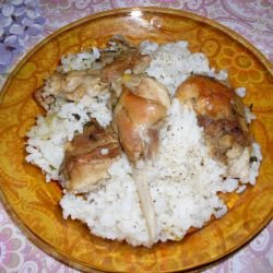 Rabbit with Rice in the Oven