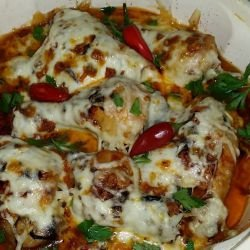 Garlic Chicken with Cheese