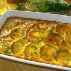 Casserole with Zucchini and Feta Cheese