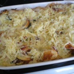 Baked Dish with Sausage and Cheese