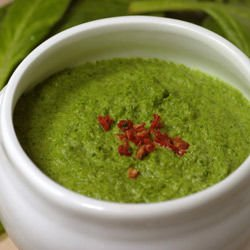 Cream of Spinach Soup with Bacon