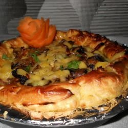 Vegetable Pie with Steamed Dough