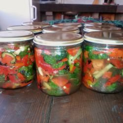 Salad for the Winter in Jars