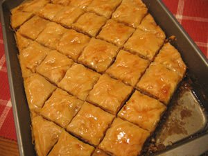 Iraqi Baklava with Cream
