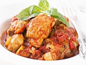 Tomatoes with chicken