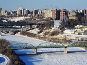 Edmonton in winter
