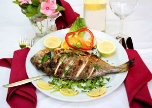 Bream with spices