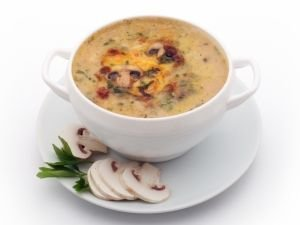 Vegetable Soup with Mushrooms and Cream