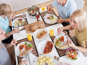 How to Eat Healthy When the Kitchen Table has Absolutely Everything