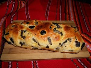 Bread with Black Olives