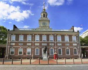 In front of Independence Hall