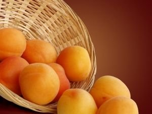 apricots and a basket