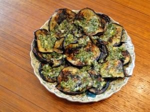 aubergines in a plate
