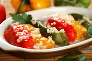 Stuffed Peppers with Cottage Cheese