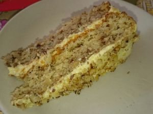 Walnut Cake with Buttercream