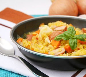 Rice with Potatoes and Sausage
