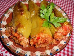 Tasty Stuffed Peppers with Mince and Rice