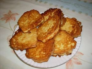 Fried Toast with Yoghurt for Breakfast