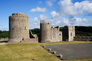 Pembroke Castle in Wales