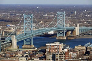 Ben Franklin Bridge in Philadelphia