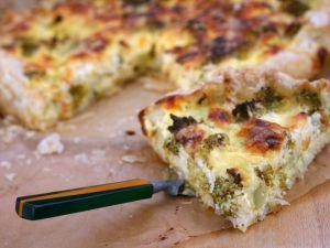 Quiche Lorraine with Broccoli