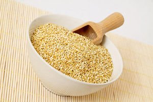 Quinoa  with a scoop