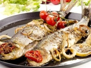 Cooked Pontic shad