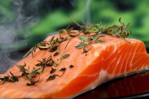 Salmon  with hherbs