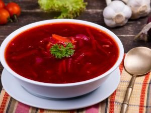 Russian Dishes with Beetroots
