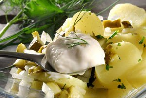 mayonnaise with potatoes