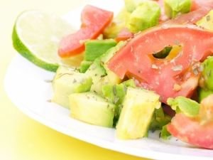 Salad with Tomatoes and Avocados