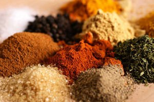 pile of spices