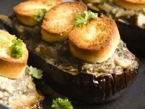 Stuffed Eggplant with Tuna