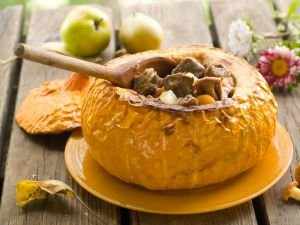 A Table Surprise: Stuffed Pumpkin