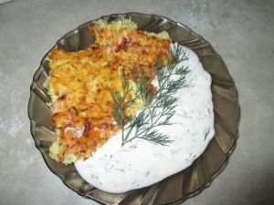 Casserole with Zucchini and Yoghurt Sauce