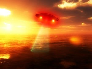 UFO over the ancient world