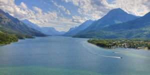 Waterton Lakes in Waterton National Park, Canada