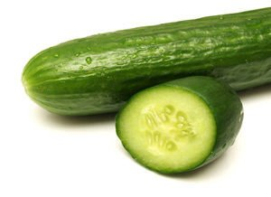 sliced ​​cucumber