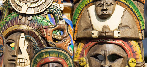 African masks and skins bring bad luck to the home