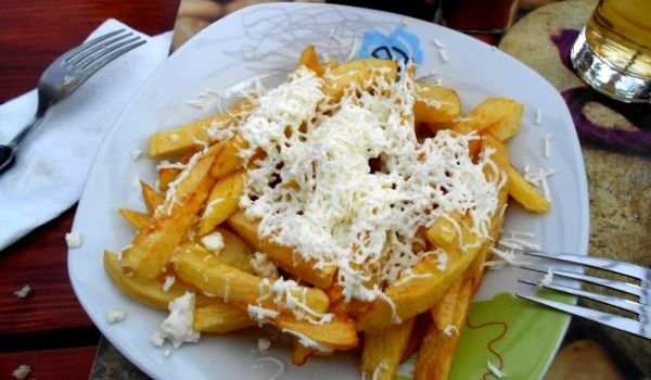 Fries with Feta